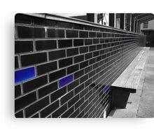 Blue Bricks Canvas Print