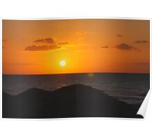 Caribbean sunset (Cuba) Poster
