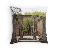 The Arch and the Statue Throw Pillow