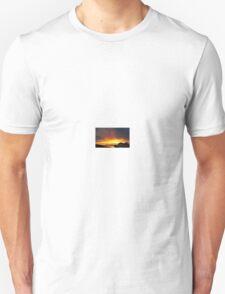 Orange and Yellow Sky Sunset  T-Shirt