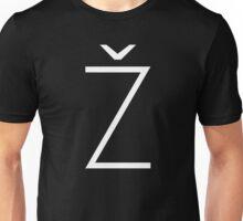 Žižek's Ž (white, thin Z) Unisex T-Shirt