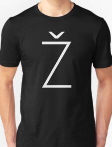 Žižek's Ž (white, thin Z) T-Shirt