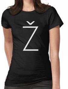 Žižek's Ž (white, thin Z) Womens Fitted T-Shirt