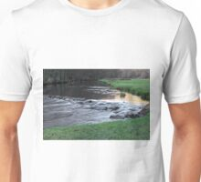 The River and Weir, Dovedale Unisex T-Shirt