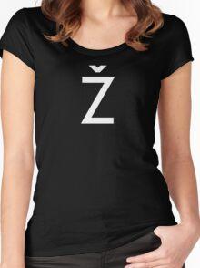 Žižek's Ž (white, basic Z) Women's Fitted Scoop T-Shirt