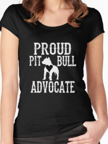 Proud Pit Bull Advocate? Women's Fitted Scoop T-Shirt