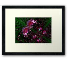 Fractal Red Butterfly Framed Print