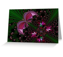 Fractal Red Butterfly Greeting Card