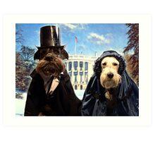 presidential pups Art Print