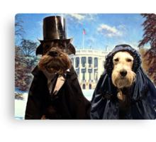 presidential pups Canvas Print
