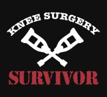 Cool 'Knee Surgery Survivor' Recovery T-Shirt and Gifts by Albany Retro