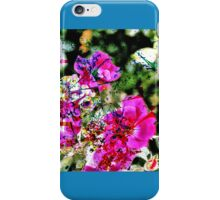 Spilt Paint on Flowers iPhone Case/Skin