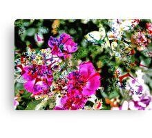Spilt Paint on Flowers Canvas Print