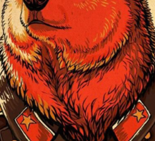 Soviet Bear - Work Harder Comrade Sticker