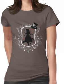 Stuck inside the Looking Glass Womens Fitted T-Shirt