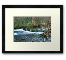 Woodland Weir, Dovedale Framed Print