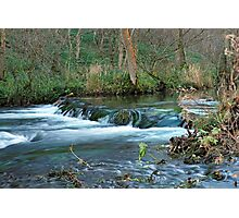Woodland Weir, Dovedale Photographic Print