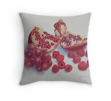 Frutti Rossi Throw Pillow