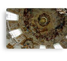 Dome Ceiling Ettal Monastery  Canvas Print