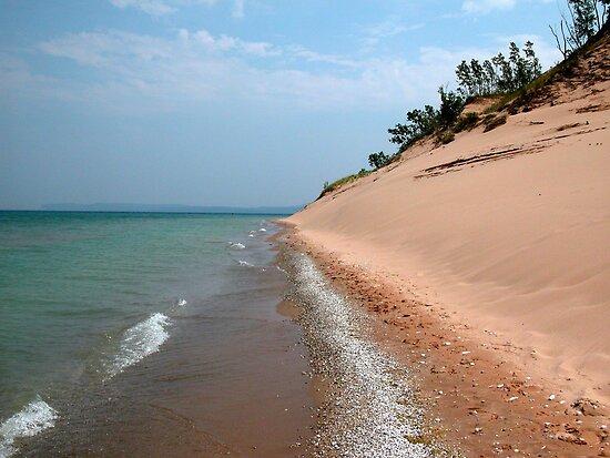 Sleeping Bear Dunes Beach Lake Michigan by mnkreations
