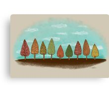 COLORFUL GROVE Canvas Print