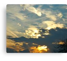 Sunset Over New York Canvas Print