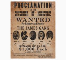 James Gang Wanted Poster Kids Clothes