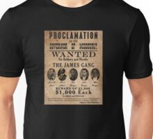 James Gang Wanted Poster Unisex T-Shirt