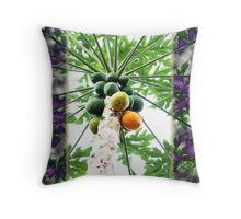 Fifteen Papayas Throw Pillow