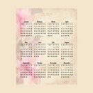 2015 Pink Floral Calendar Prints, Skins and Totes by Vickie Emms