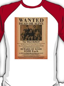 The Wild Bunch Wanted Poster T-Shirt