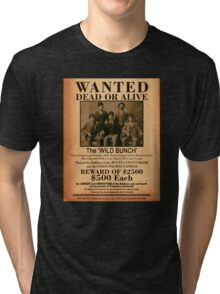 The Wild Bunch Wanted Poster Tri-blend T-Shirt