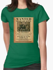 The Wild Bunch Wanted Poster Womens Fitted T-Shirt