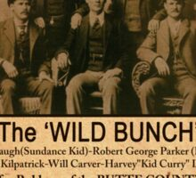 The Wild Bunch Wanted Poster Sticker