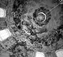 Ettal Monastery Ceiling in BW by ArtistryBySonia