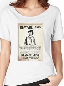 Billy the Kid Wanted Poster Women's Relaxed Fit T-Shirt