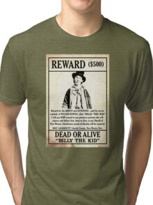Billy the Kid Wanted Poster Tri-blend T-Shirt