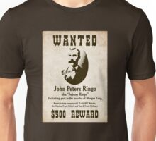 Johnny Ringo Wanted Poster Unisex T-Shirt