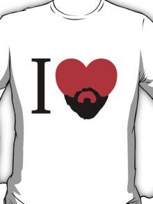 I Heart Beard. T-Shirt