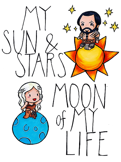 Game of Thrones - Daenerys & Khal Drogo by charsheee