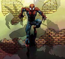 Spiderman vs Goblin by kitkat1