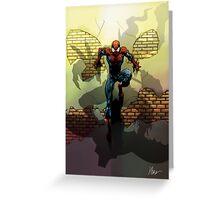 Spiderman vs Goblin Greeting Card