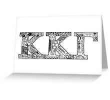 Kappa Kappa Gamma Letters Greeting Card