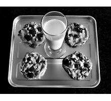 Cookies and milk Photographic Print