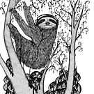 PEACE-TOED SLOTH by Nichole Lillian Ryan