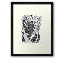 PEACE-TOED SLOTH Framed Print