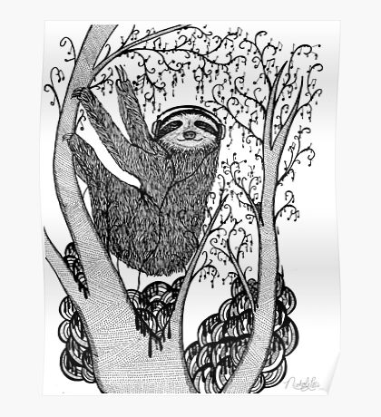 PEACE-TOED SLOTH Poster