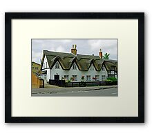 Thatched Cottages In Repton Framed Print