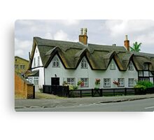 Thatched Cottages In Repton Canvas Print