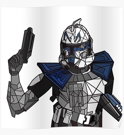 Captain Rex Geometric Poster